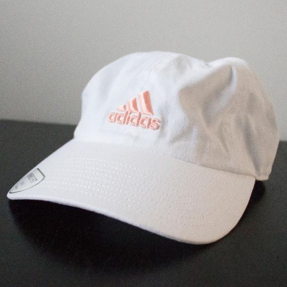 997b2ec8743 NWT Adidas Rose Gold Embroidered Logo White Cap